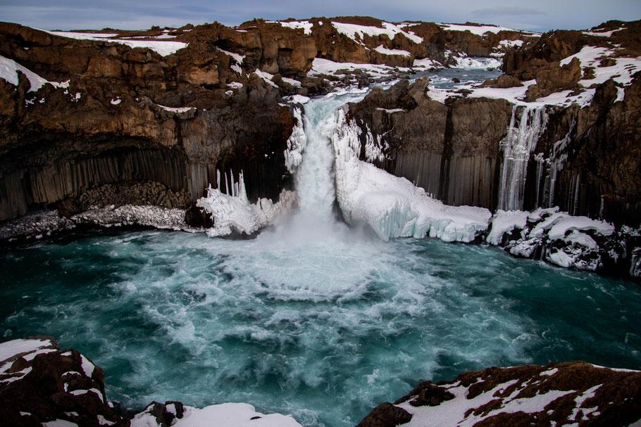 Aldeyjarfoss, iceland, landscape, waterfall