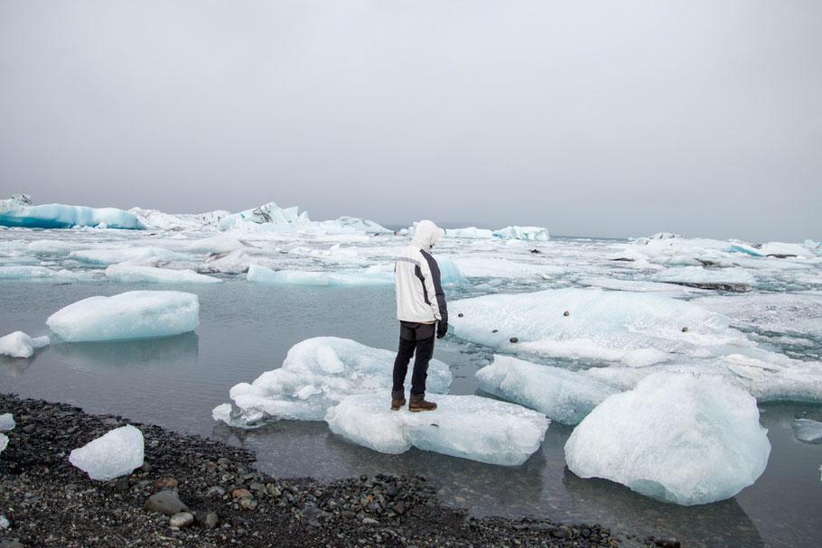 Jökulsárlón, glacier lagoon, landscape, iceland