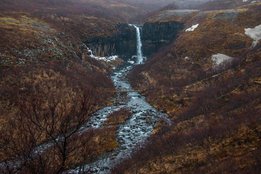 Svartifoss, Skaftafell national park, iceland, landscape