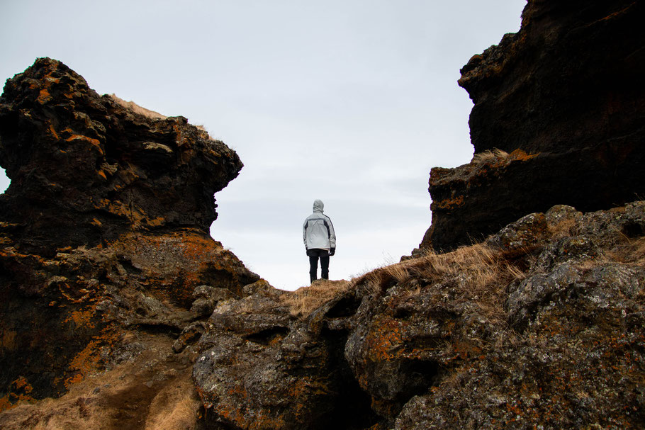 Hofdi, lake Mývatn, iceland, lava formations, lanscape