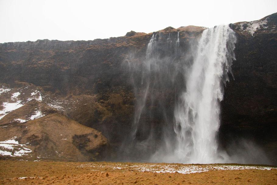 Seljalandsfoss, waterfall, landscape, iceland