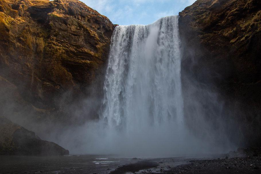 Skógafoss, waterfall, iceland, landscape
