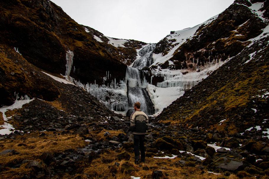 Snæfellsnes Peninsula, Kerlingafoss, waterfall, iceland, landscape