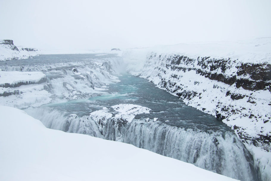 gulfoss, iceland, waterfall, golden circle
