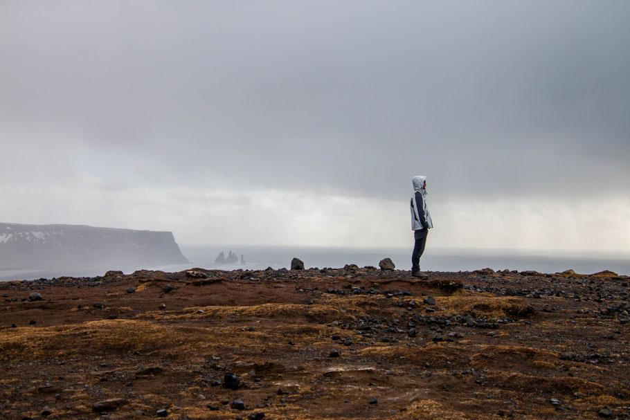 Dyrhólaey, cliff, iceland, landscape