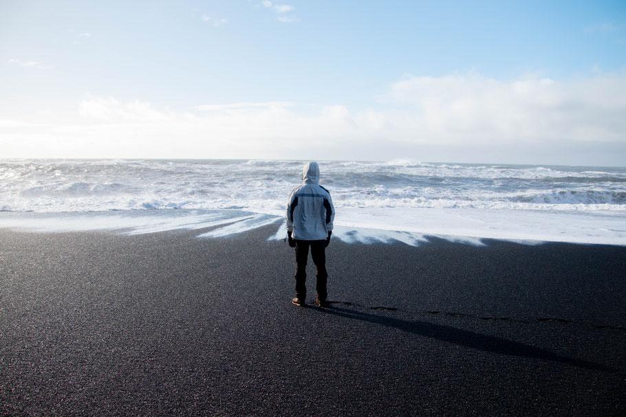 Reynisfjara, black sand beach, iceland, landscape