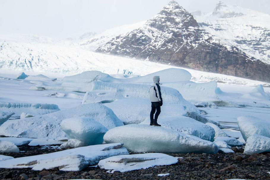 Fjallsárlón, glacier lagoon, iceland, landscape