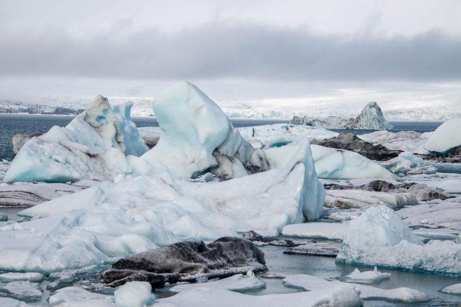 Jökulsárlón glacial lagoon, iceland, landscape, Breiðamerkurjökull glacier