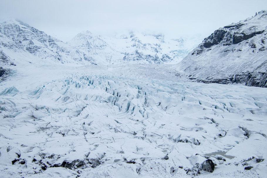 Svínafellsjökull, landscape, iceland
