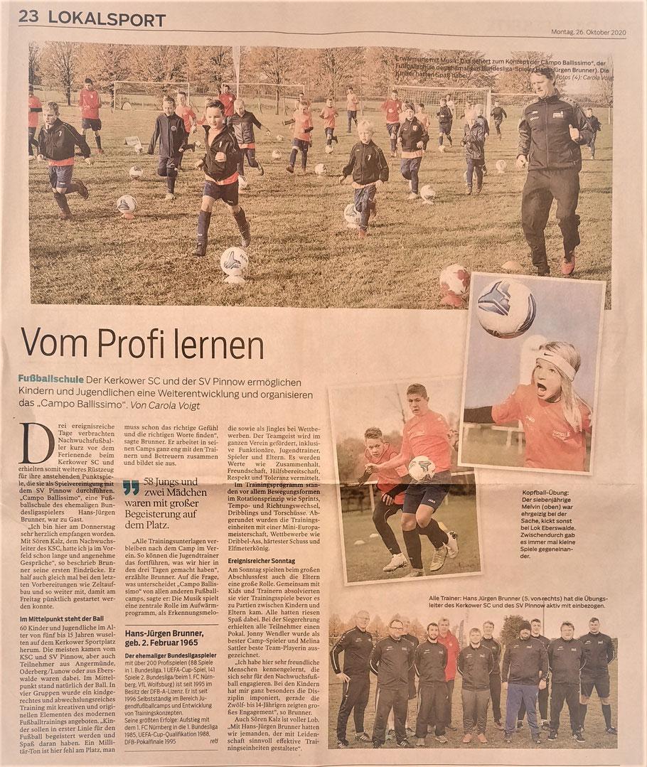 Märkische Oderzeitung vom 26.10.2020