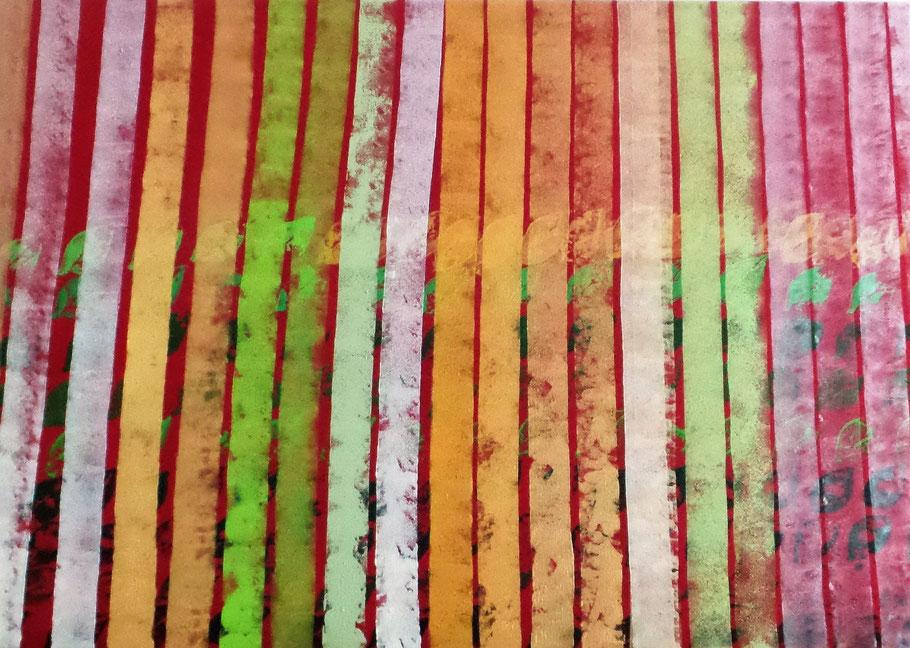 Gemälde von Rot zu Grün nach der Feng-Shui Symbolik die Farben für Reichtum