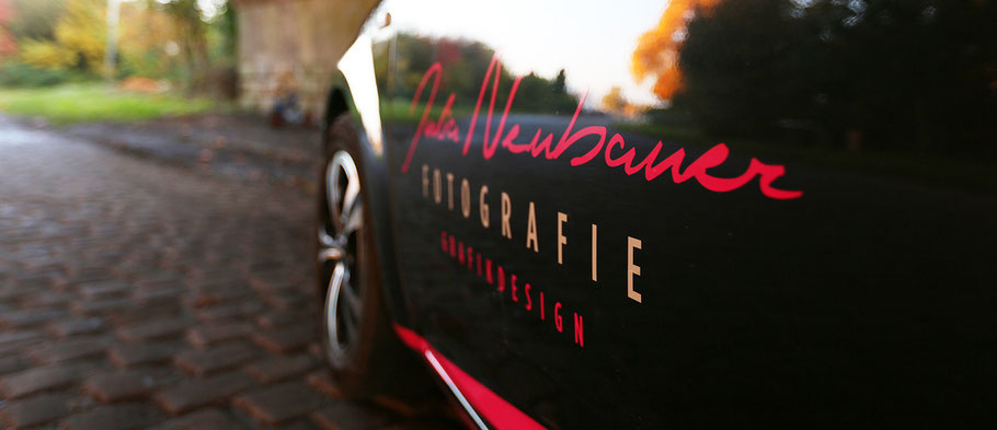 Werbung auf dem Auto - Fotografin aus dem Kreis Recklinghausen