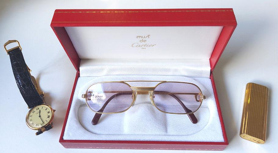 MAG Lifestyle Magazin online Le Must de Cartiere Uhren Sonnenbrillen Feuerzeuge Accessoires 80er Jahre vintage Klassiker 80er Jahre
