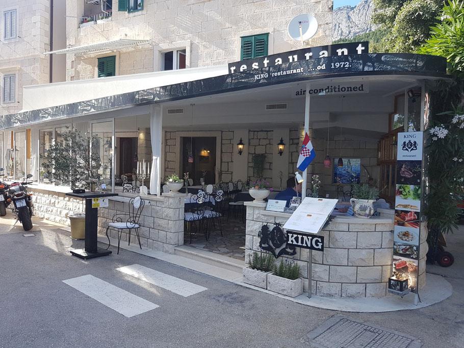 MAG Lifestyle Magazin Urlaub Reisen Kroatien Dalmatien Makarska Riviera Baska Voda Restaurant King Gourmet Feinschmecker Restaurants