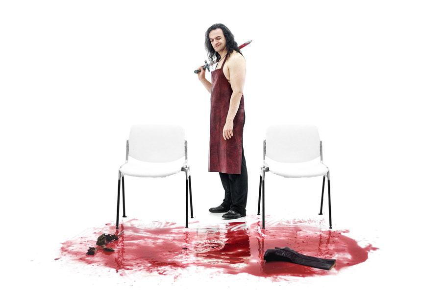 Sieruan Casey als TITUS in WEISS Blut und Shakespeare von Carolina Rath