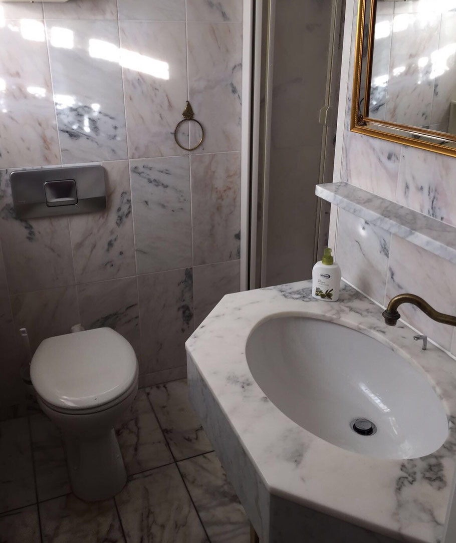 Bad mit Dusche - Ferienhaus Lotte in Cuxhaven/Duhnen