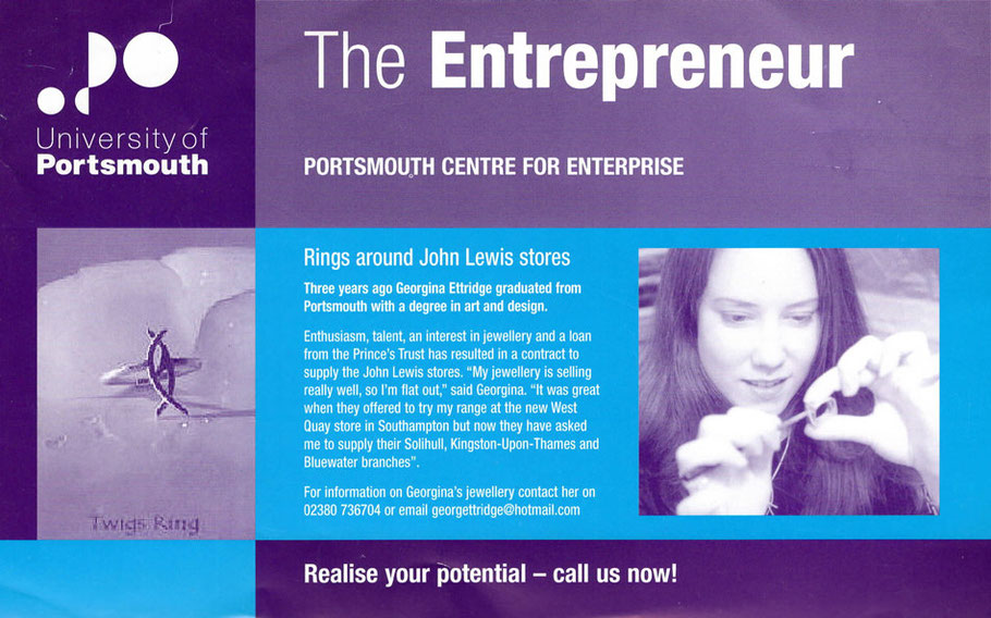 'Ring around John Lewis Store' The Entrepreneur magazine