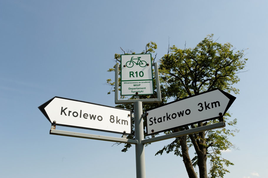 Fahrradwegweiser in Polen...