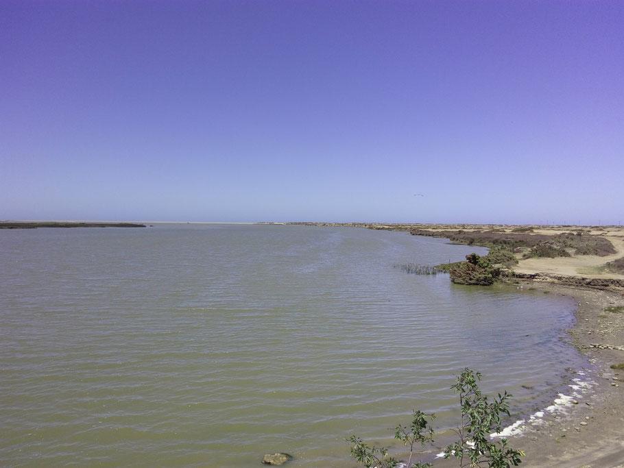 Der Oranje an der Mündung in´s Meer
