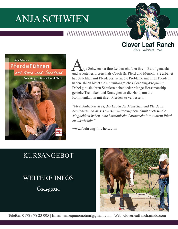 Anja Schwien - Führung mit Herz. Horsemanship. Pferde führen mit Herz und Verstand