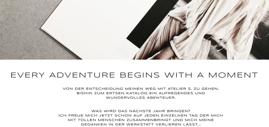 atelier s. Hamburg - Sandra Simon - Schmuckdesign - EVERY ADVENTURE BEGINS WITH A MOMENT - lookbook 2018