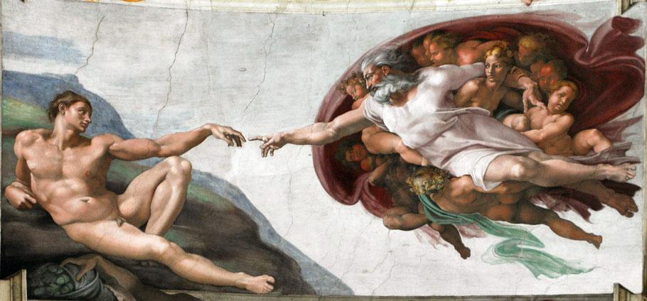 """Michelangelo, """"Creazione di Adamo"""" (1511)"""