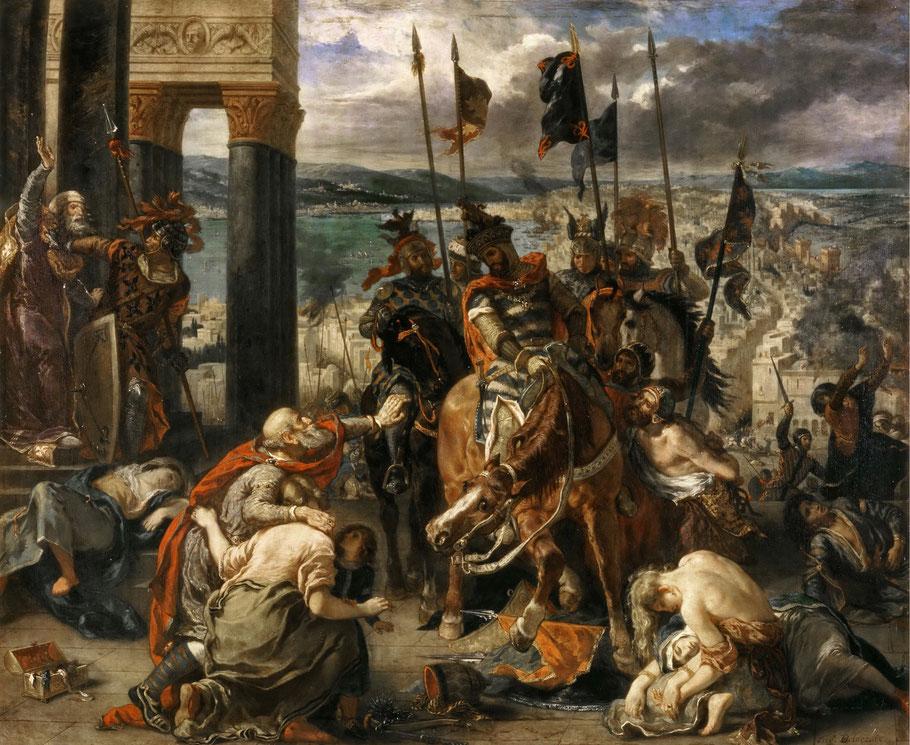 """E. Delacroix, """"Ingresso dei crociati a Costantinopoli"""" (1840)"""