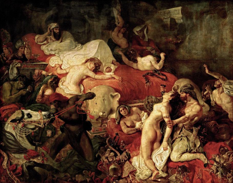 """E. Delacroix, """"La morte di Sardanapalo"""" (1827)"""