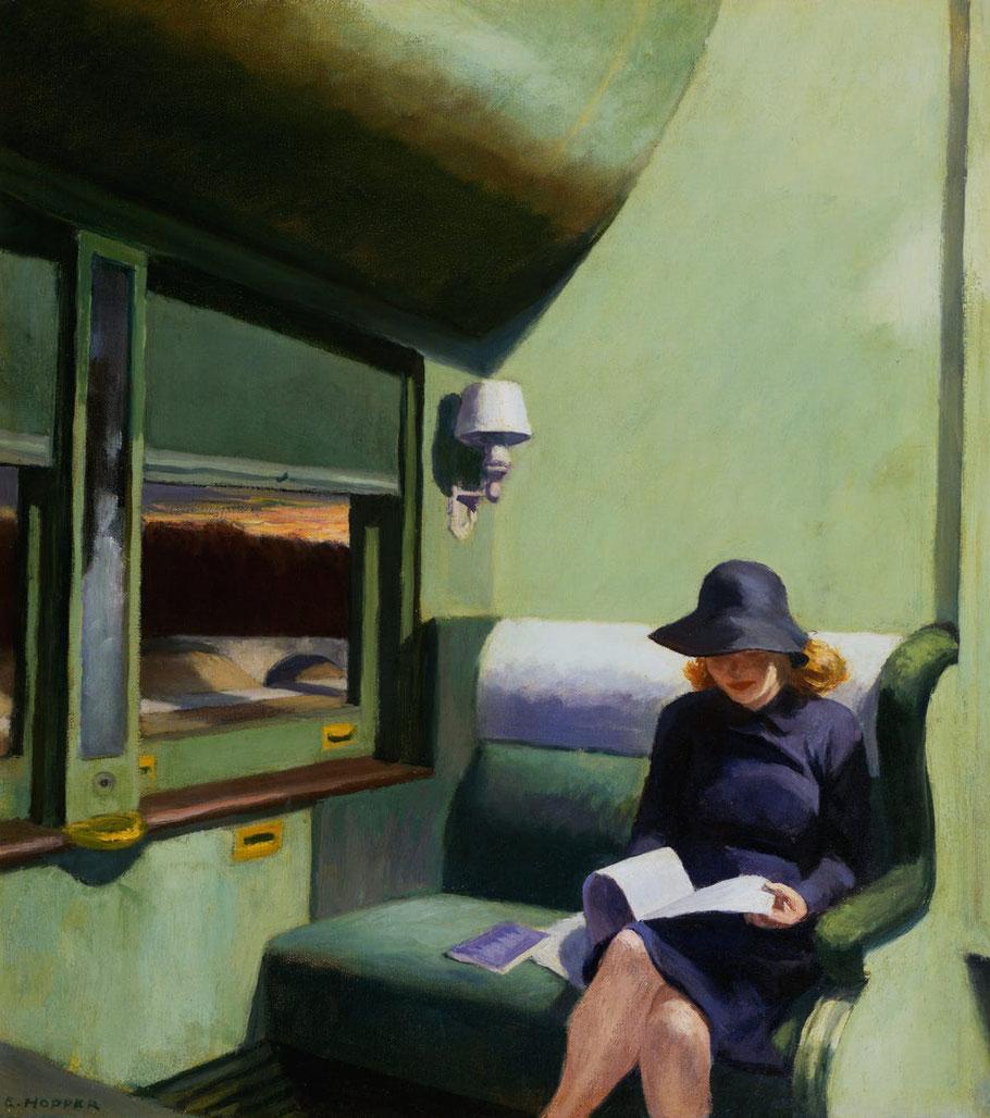 "Edward Hopper, ""Scompartimento C, carrozza 193"" (1938)"