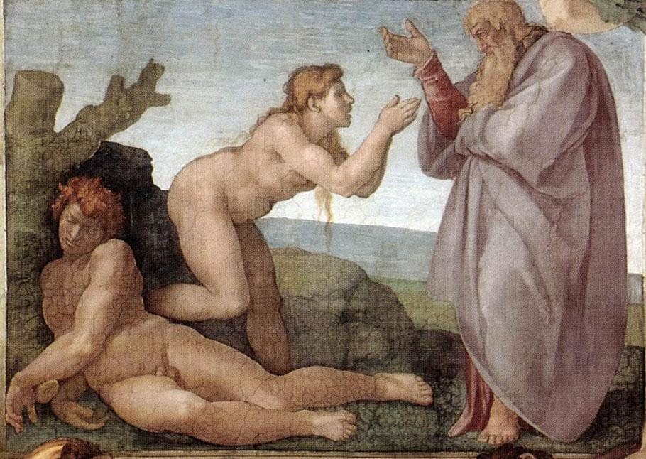 """Michelangelo, """"La creazione di Eva"""" (1511)"""
