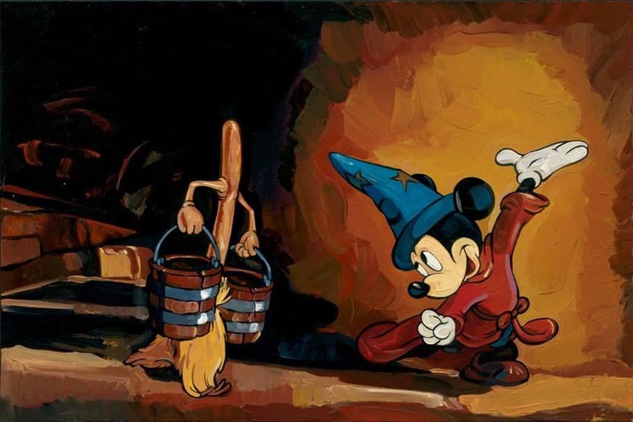 """L'apprendista stregone"" nella celebre versione di Walt Disney in ""Fantasia"" (1940)"