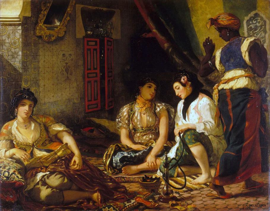 """E. Delacroix, """"Donne di Algeri nei loro appartamenti"""" (1834)"""