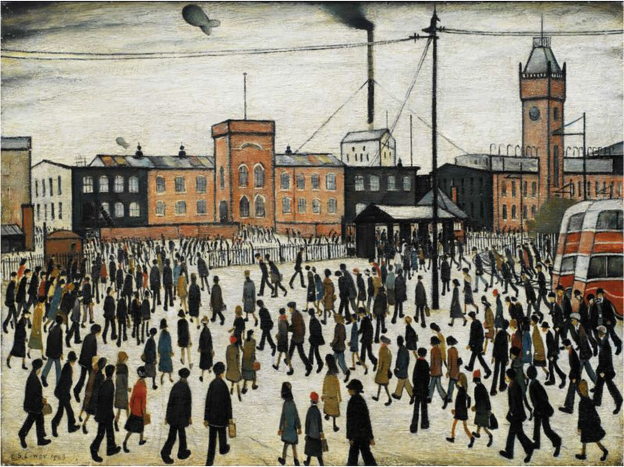 "L.S. Lowry, ""Going to Work"", 1943"