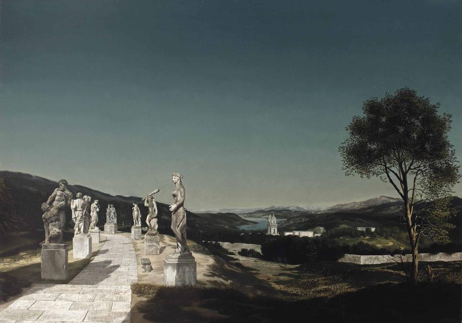 """Carel Willink, """"Paesaggio con sette sculture"""", 1941"""