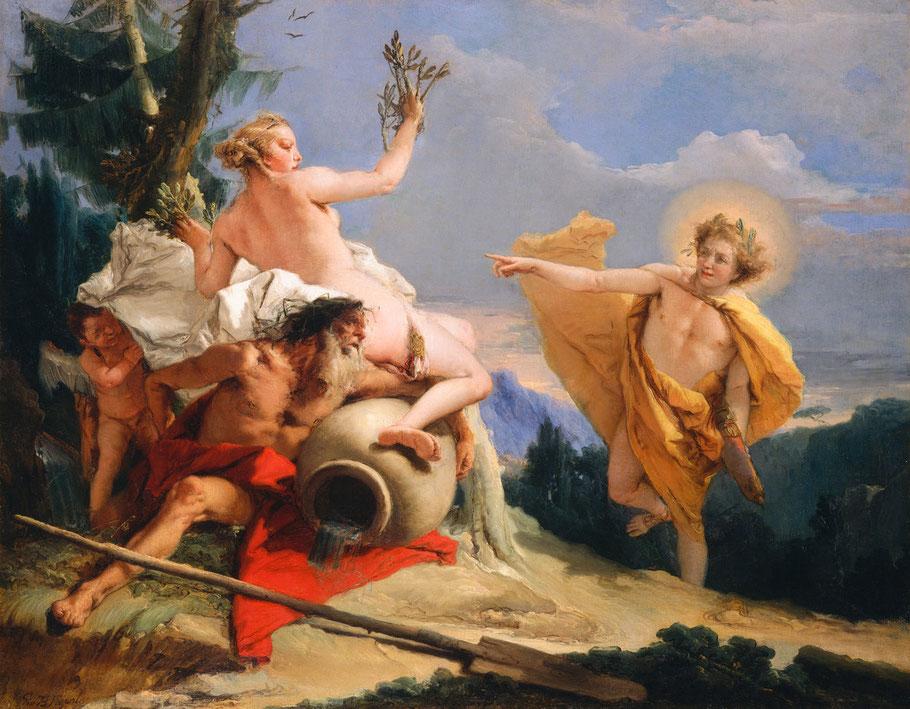 """Giovanni Battista Tiepolo, """"Apollo e Dafne"""""""