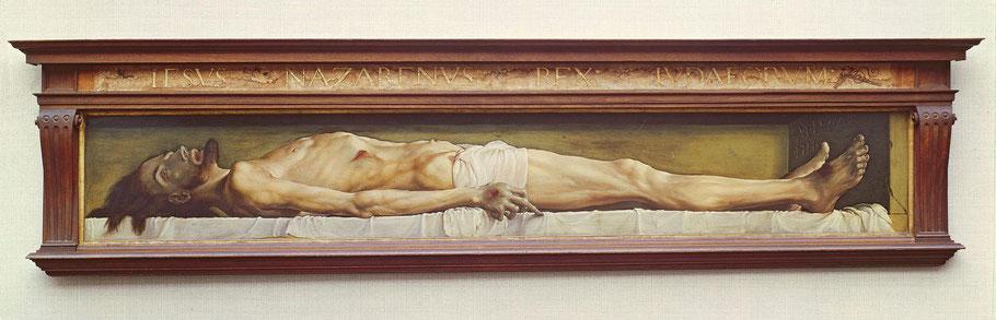 """Hans Holbein, """"Il Giovane Cristo morto nel sepolcro"""" (1521)"""