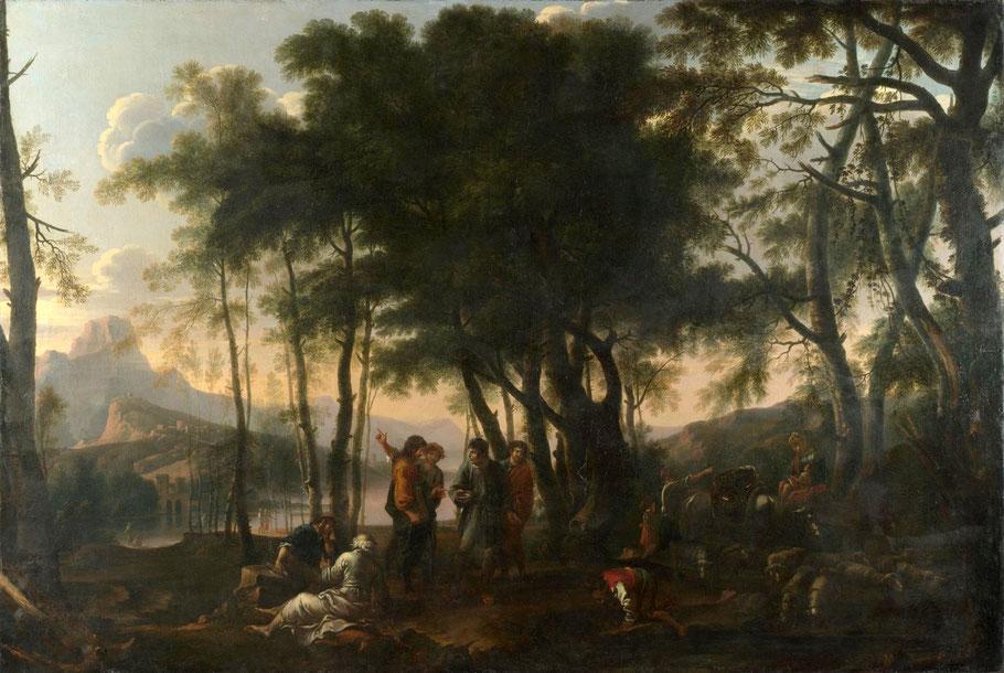 "Salvator Rosa, ""La selva dei filosofi"", XVII secolo"