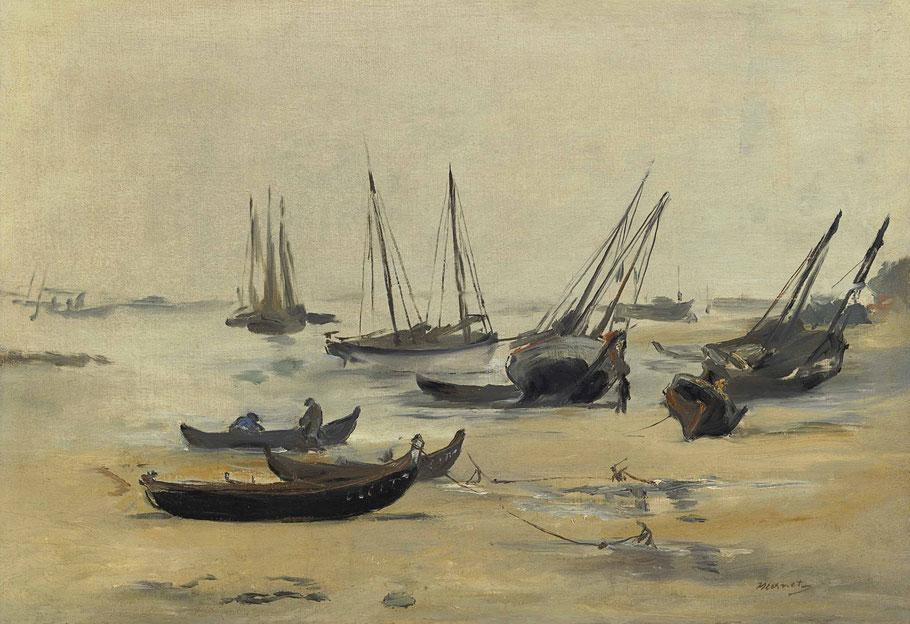 "Édouard Manet, ""La spiaggia con la bassa marea"" (1871)"