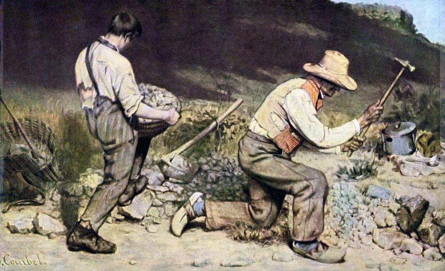 """Gustave Courbet, """"Gli spaccapietre"""" (1849)"""