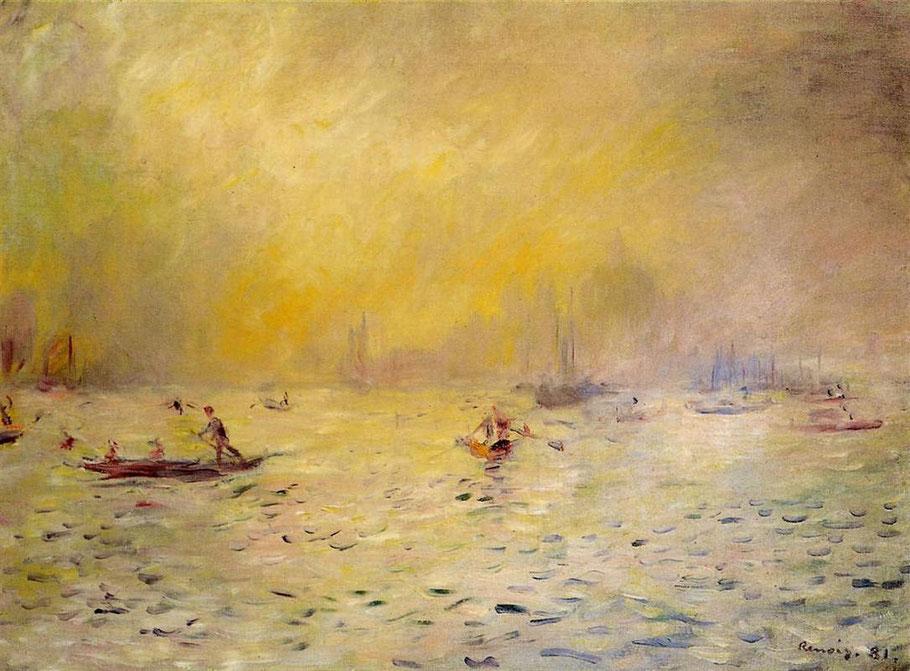 """Pierre-Auguste Renoir, """"Veduta di Venezia nella nebbia"""" (1881)"""