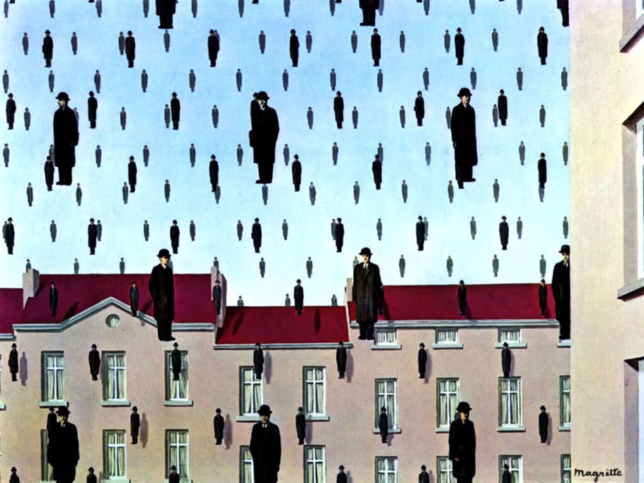 "René Magritte, ""Golconda"" (1953)"