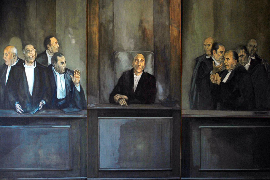 """Luciano Caldiari, """"Il potere"""", Trittico (1978)"""
