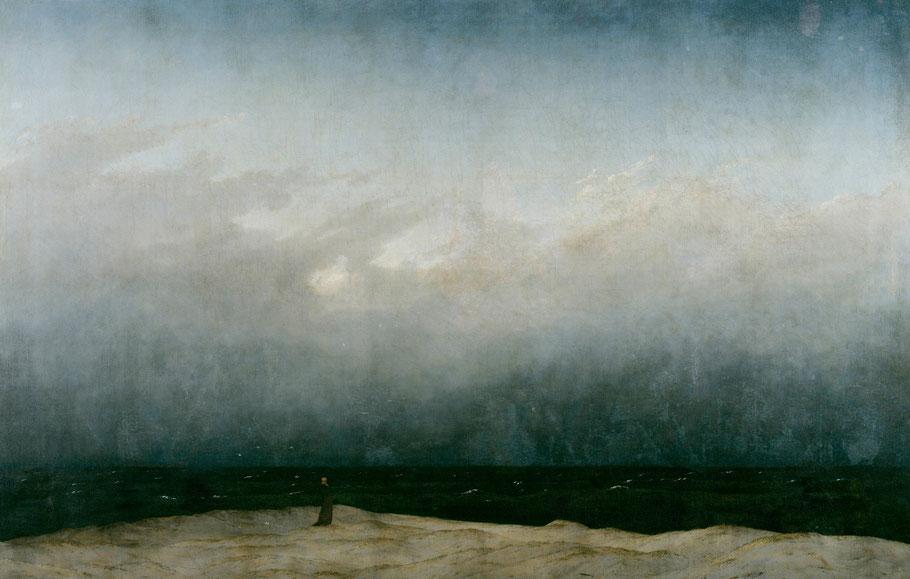 """C.D. Friedrich, """"Monaco in riva al mare"""", 1808-10"""