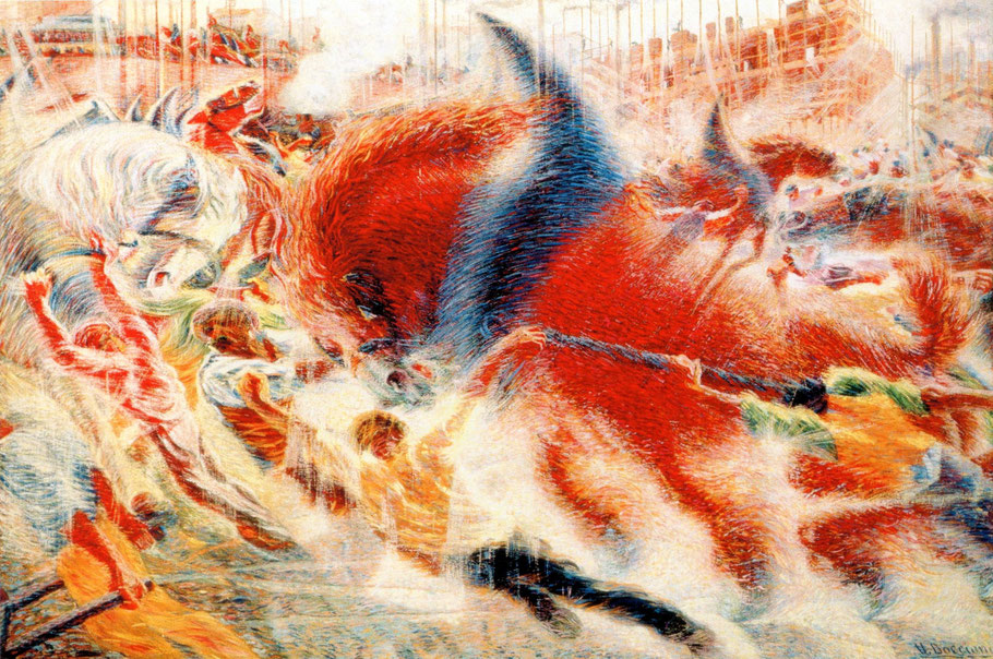 """U. Boccioni, """"La città che sale"""", 1911"""
