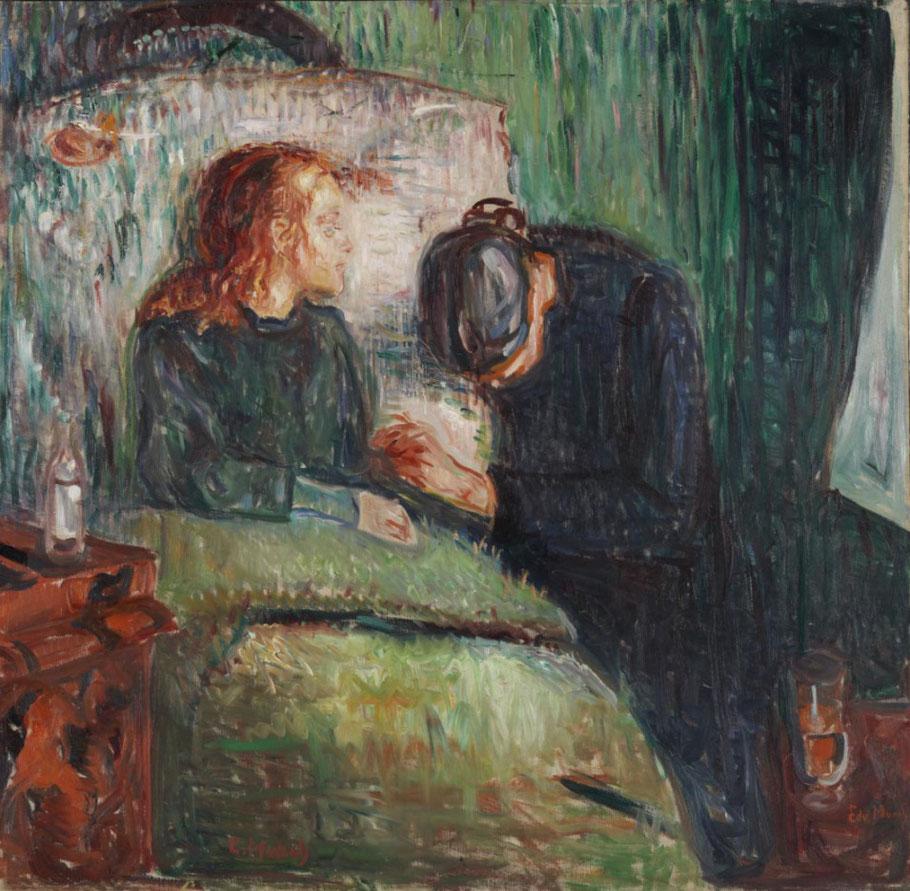 """E. Munch, """"La fanciulla malata"""""""