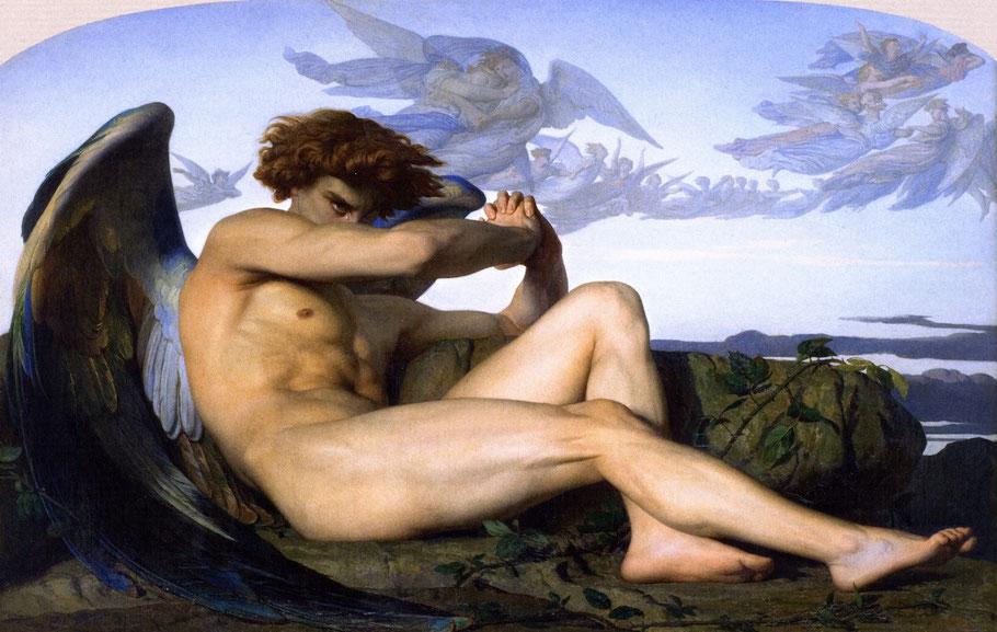"A. Cabanel, ""L'angelo caduto"" (1868)"
