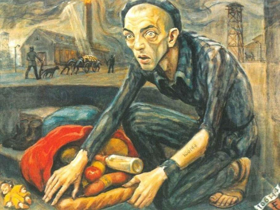 """David Olère, """"Il cibo dei morti per i vivi"""" (1943-45)"""
