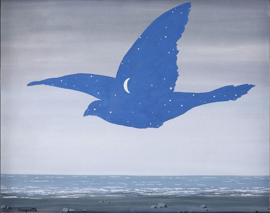 "René Magritte, ""Il bacio"" (1957)"