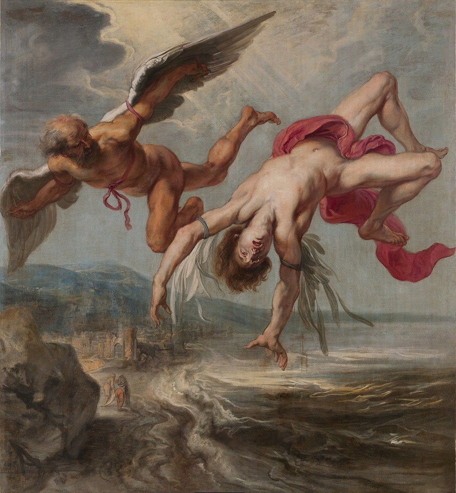 "Jacob Peter Gowy, da bozzetto di P.P. Rubens,""La caduta di Icaro"""