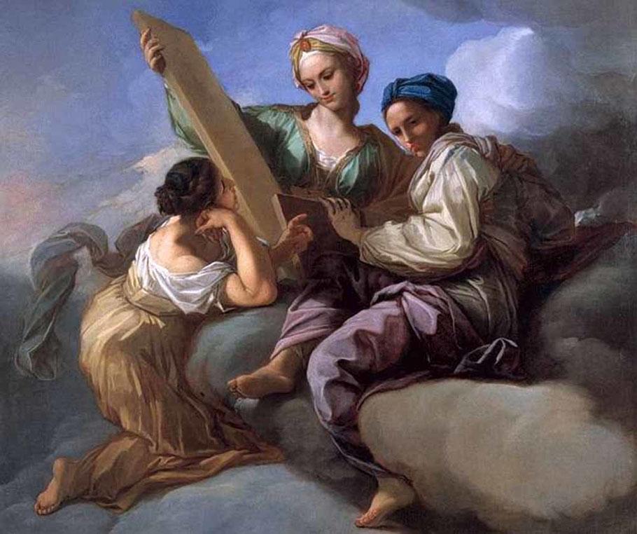 """Benedetto Luti (1666-1724), """"Allegoria della Sapienza"""""""